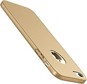 Mpei Case Compatible with iPhone 5 Case, Slim Anti-Scratch Hard PC Phone Case for iPhone 5 5S SE (iPhone 5 5S SE, Gold)