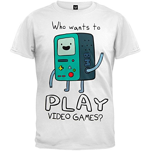 Adventure Time With Finn And Jake BMO Play Video Games? Men's Adult T-shirt