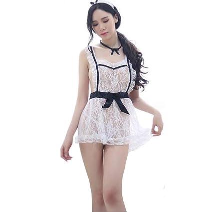 Lencería Sexy French Maid Plus tamaño Traje Uniforme Vestido ...