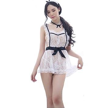 Lencería Sexy French Maid Plus tamaño Traje Uniforme Vestido de ...
