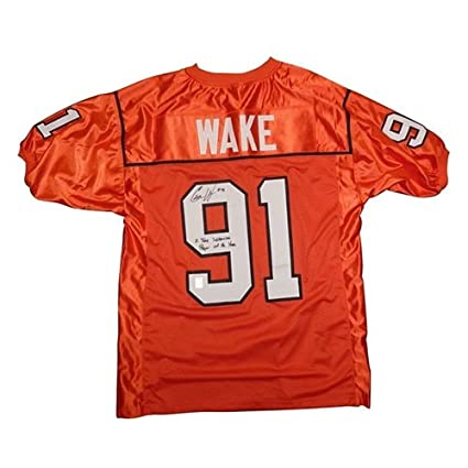 cheap for discount 826c3 6c3a0 Cameron Cam Wake Autographed BC Lions (CFL Orange #91 ...