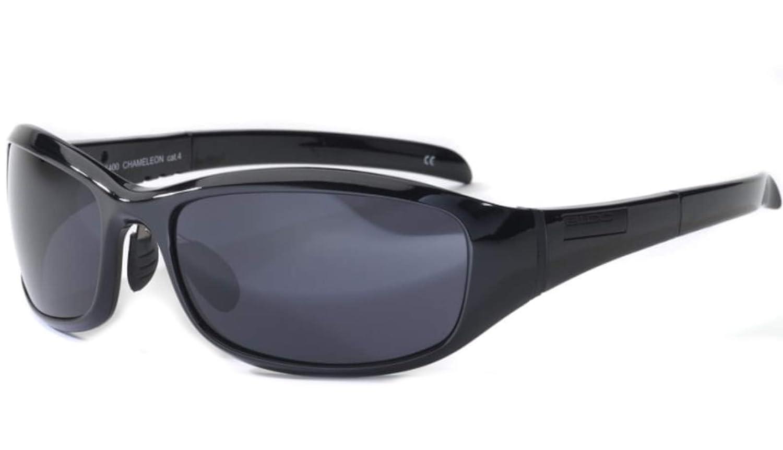 d01c9a1bbac Bloc Chameleon X400 Shiny Black S11 Cat 3. Smoke Lens  Amazon.co.uk  Sports    Outdoors