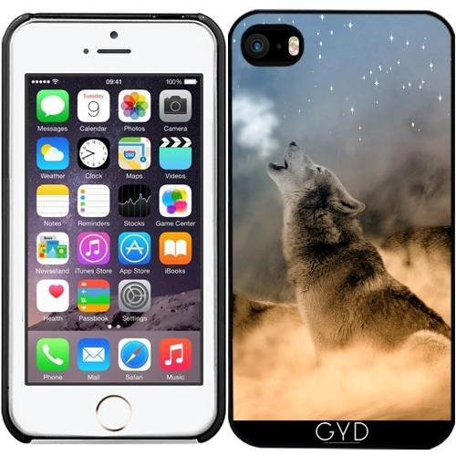 Coque pour Iphone SE - Loup Faune Sauvage Imaginaire by WonderfulDreamPicture