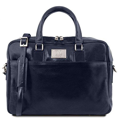 Tuscany Leather TL141241, Borsa a spalla donna Blu blu compact
