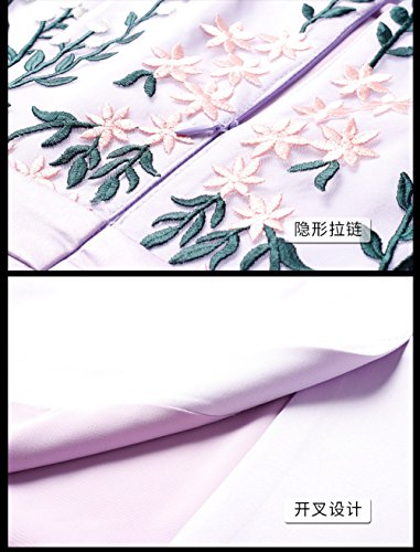 Women`s Tight Neck Evening Round cotyledon Gown Half Dress Sleeve Pink v6qHRgxw