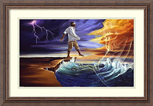 Framed Art Print 'Step Out on Faith: Male (medium)' by WAK-Kevin A. Williams by Amanti Art