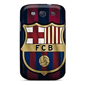 Durable Hard Phone Cases For Galaxy S3 With Provide Private Custom Trendy Barcelona Fc Sports Pattern No1cases