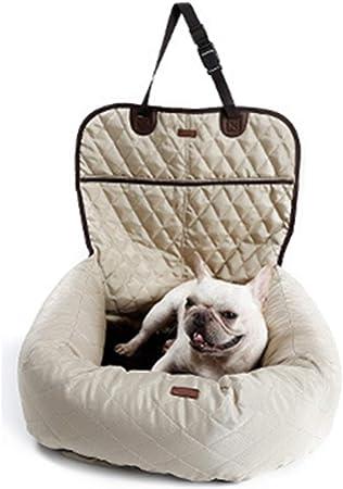 Simis Cama Multifuncional para Mascotas, 2 en 1 Perro Asiento de Carro Camas Puppy Colchón Colchoneta Delantera y Trasera Engrosamiento de Mascotas Estera de Entrenamiento para Gatos,Beige: Amazon.es: Hogar