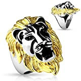 gold lion head ring - Gold Mane Lion Head Stainless Steel Men's Ring Size 9-14 (Sold Individually) (12)