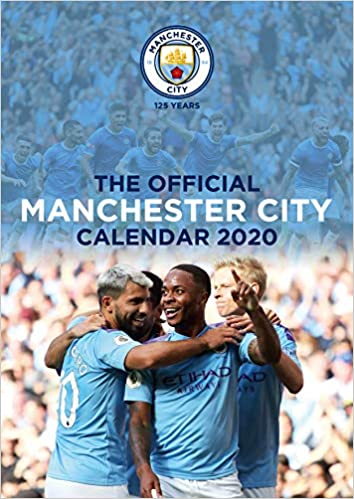 Manchester City FC Calendar Official A Month To View Wall Calendar Amazon co uk Manchester City FC Books