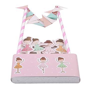 Sevenfly 1 Set Ballett Mädchen Alles Gute Zum Geburtstag Cupcake