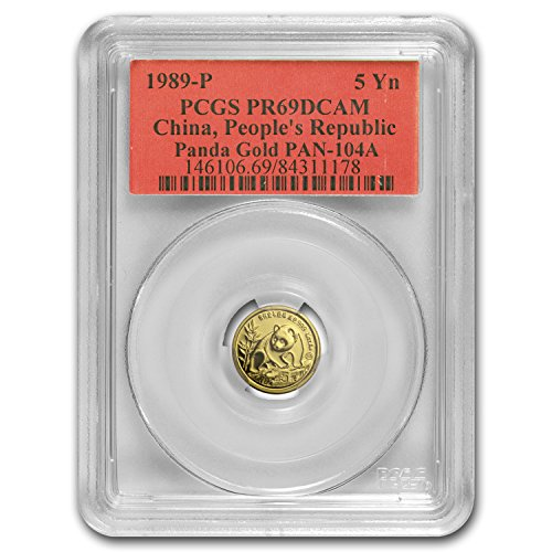 1990 CN China 1/20 oz Proof Gold Panda PR-69 PCGS Gold PR-69 PCGS