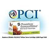 Tinta reemplazo 43324404-PCI y cartucho de tóner para impresoras Okidata, Negro