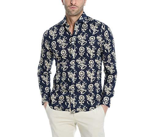 Bagutta Men's Berlinoeblr09083650 Blue Cotton Shirt