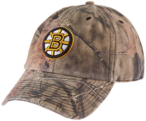 NHL Boston Bruins OTS Challenger Adjustable Hat, Mossy Oak - Break-Up Country, One Size