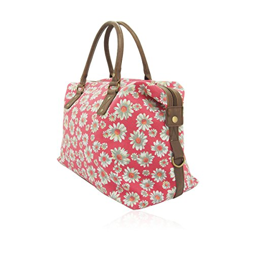 Bag Daisy Large Patterned Flower Plum Dark Print Flower Weekend Canvas Butterfly Daisy Tote Flower Holdall Nicole UKFS Daisy Shoulder Blue Designer qA7wUUp