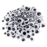 MagiDeal 308 Pieces Self Adhesive Sticky Wiggle Googly Eyes Assorted Sizes for Kids Crafts Scrapbooking