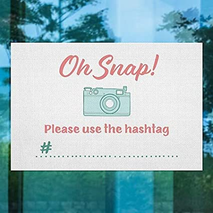 Oh Snap Perforated Window Decal CGSignLab 30x20