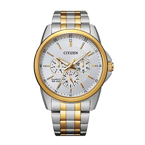 Citizen Quartz Mens Watch, Stainless Steel, Classic, Two-Tone (Model: AG8344-57B)