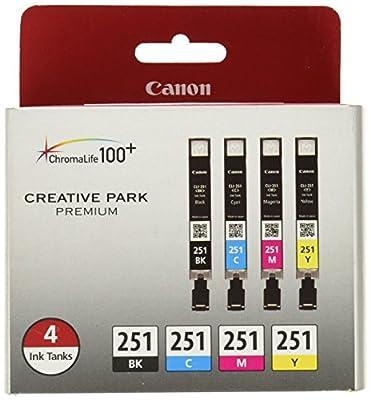 Esmezon Compatible Canon Ink Cartridges PGI 250XL CLI 251XL
