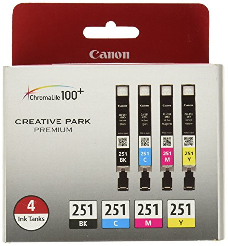Price comparison product image Canon CLI-251 Creative Park Premium Ink Cartridges Black,  Cyan,  Magenta,  Yellow - 4 color pack