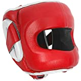 Ringside DFSH RED L/XL Deluxe Face Saver Boxing Headgear, L/XL, Red