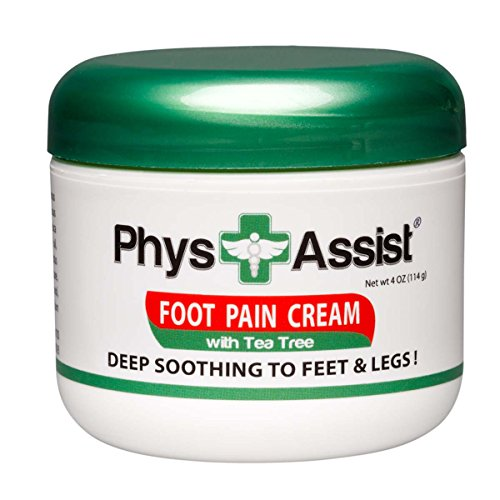 PhysAssist Foot Pain Cream 4 oz with Arnica, Peppermint & Tea Tree is Deep Soothing & Calming to Painful Feet & Legs with Cramping, Burning & Numbness Sensations sometimes associated (Arnica Mint)