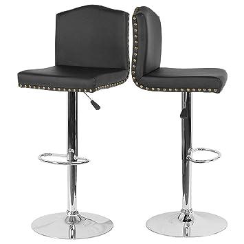 Amazon.com: Taburete de bar de diseño contemporáneo, asiento ...