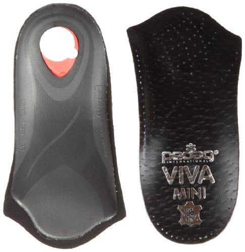 Pedag Viva Mini Orthotic with Semi-Rigid Arch Support, Metatarsal & Heel Pad, Leather, Black, US W7/EU37