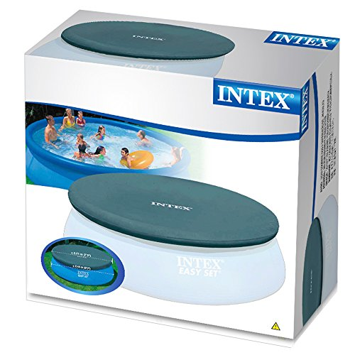 intex 8 foot round easy set pool cover new ebay. Black Bedroom Furniture Sets. Home Design Ideas