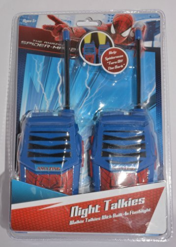The Amazing Spider-Man Night Talkies/Walkie-Talkies With Built-In Flashlight, Ages 5+