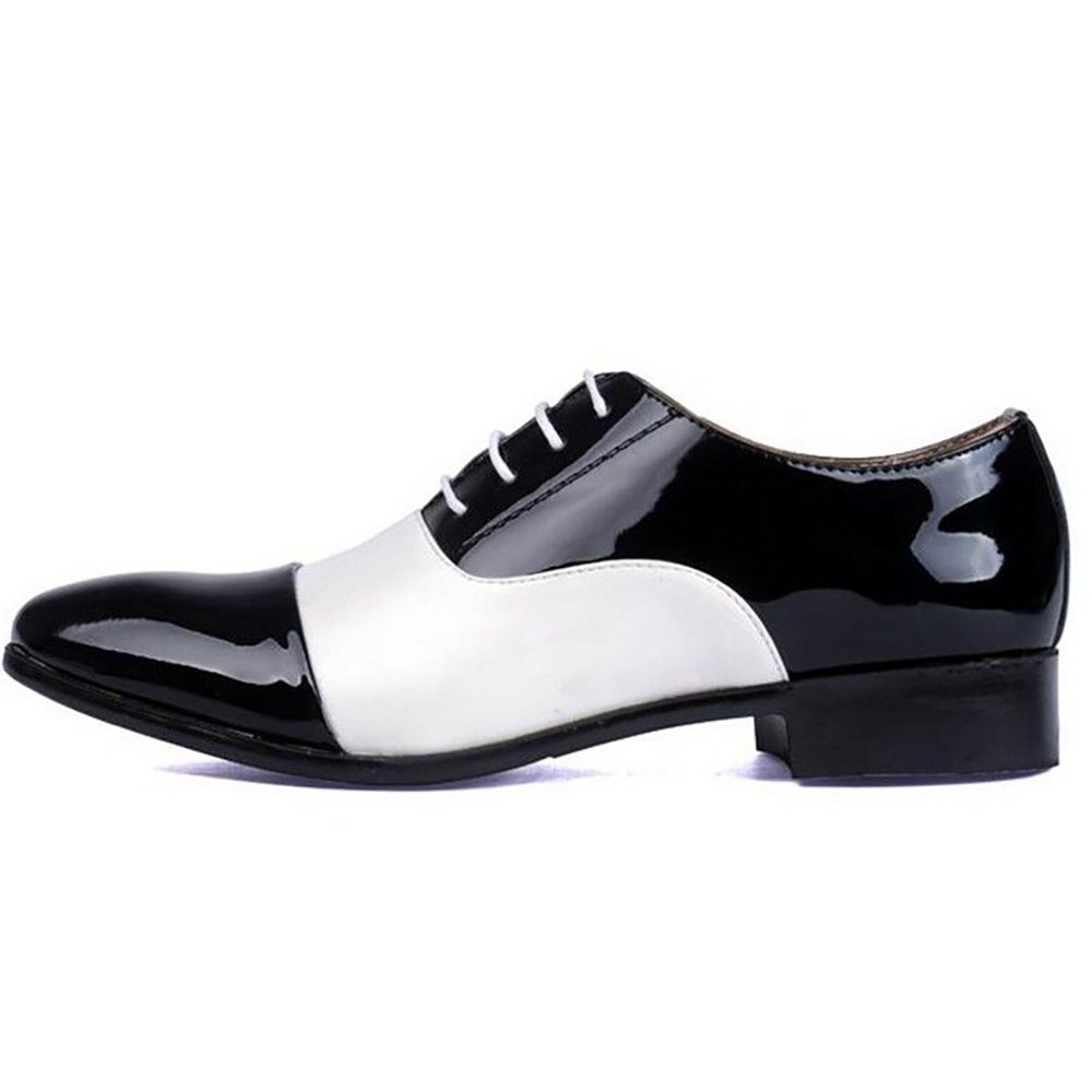 Men Designers Luxury Fashion Dress Casual Formal Wedding Business White Black Zapatos Hombre Oxford Shoes (8, Black)