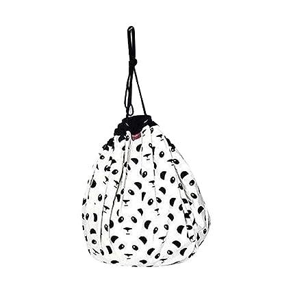 Aolvo Canvas Storage Tote Bag, Hanging Toy Storage Bag Stuffed Animal Bean  Bag Childrenu0027s Play