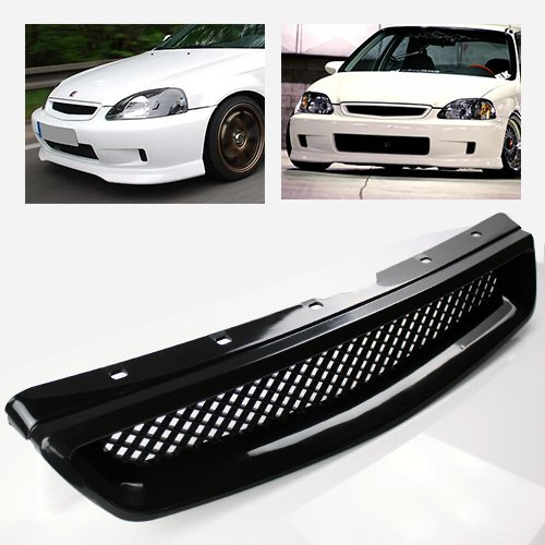 ModifyStreet Black ABS Plastic JDM Mesh Sport Grille For 99 00 Honda Civic  EK LX/DX/EX/Si