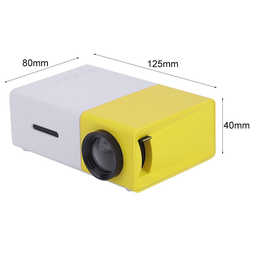 homgrace Mini Casa Proyector 3d 320 * 240 HD portátil TV Cine en ...
