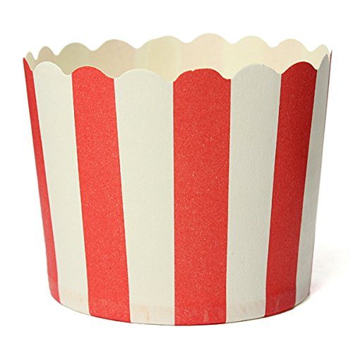 (Agoodname Muffin Liners Red Stripes Cupcake Wrapper Paper Case Baking Kitchen Tools)