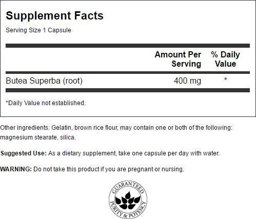 Swanson Butea Superba Root, Full Spectrum 400 Milligrams 60 Capsules