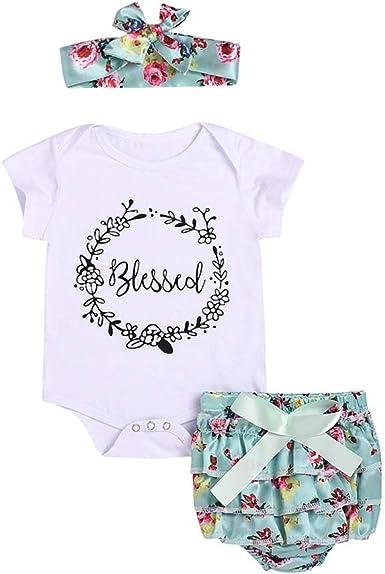 YICANG Conjunto de Camiseta de algodón con Letras de bebé para ...
