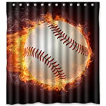 Lovely Cool Design Cool Baseball Sport Shower Curtain 48x72inch Generic Shower  Curtain Liners