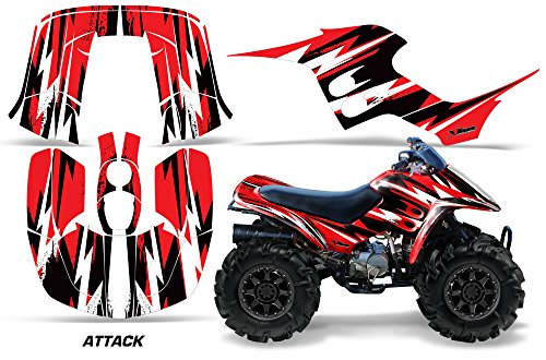 AMR Racing ATV Graphic Kit Sticker Decals Compatible with Honda 90 TRX/EX Maier 1993-2005 - Attack Red (Maier Covers Side)