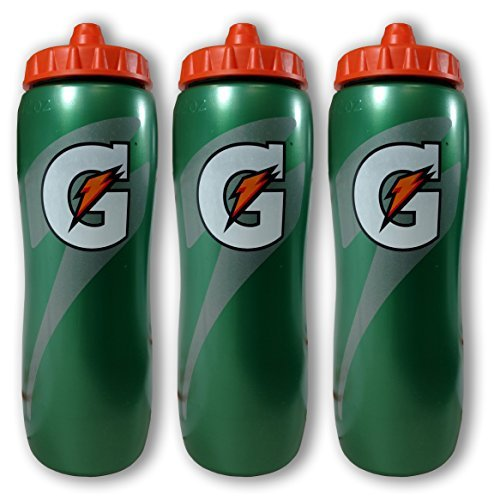 Gatorade 32 Ounce Contour Style Squeeze Water Bottle, 3 Pack ()