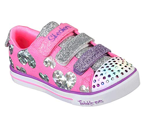 Sparkle LITE-Flutter FAB Sneaker, hot Pink/Multi, 12 Medium US Little Kid ()