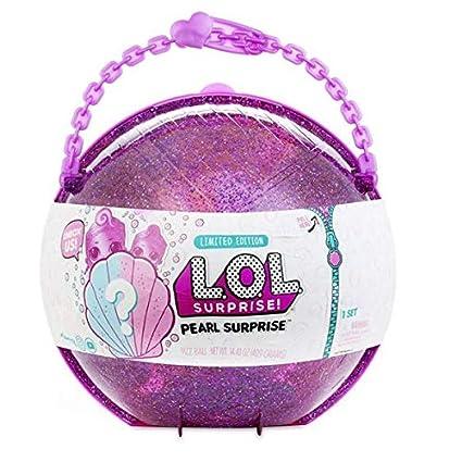 LOL Pearl Surprise - Media Esfera con Muñecas LOL y LIL Sisters Exclusivas , Rosa o Verde (Giochi Preziosi LLU36000)