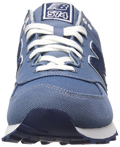 Ny Balans Mens Ml574 Piké Pack Klassiska Löpare Sneaker Chambray
