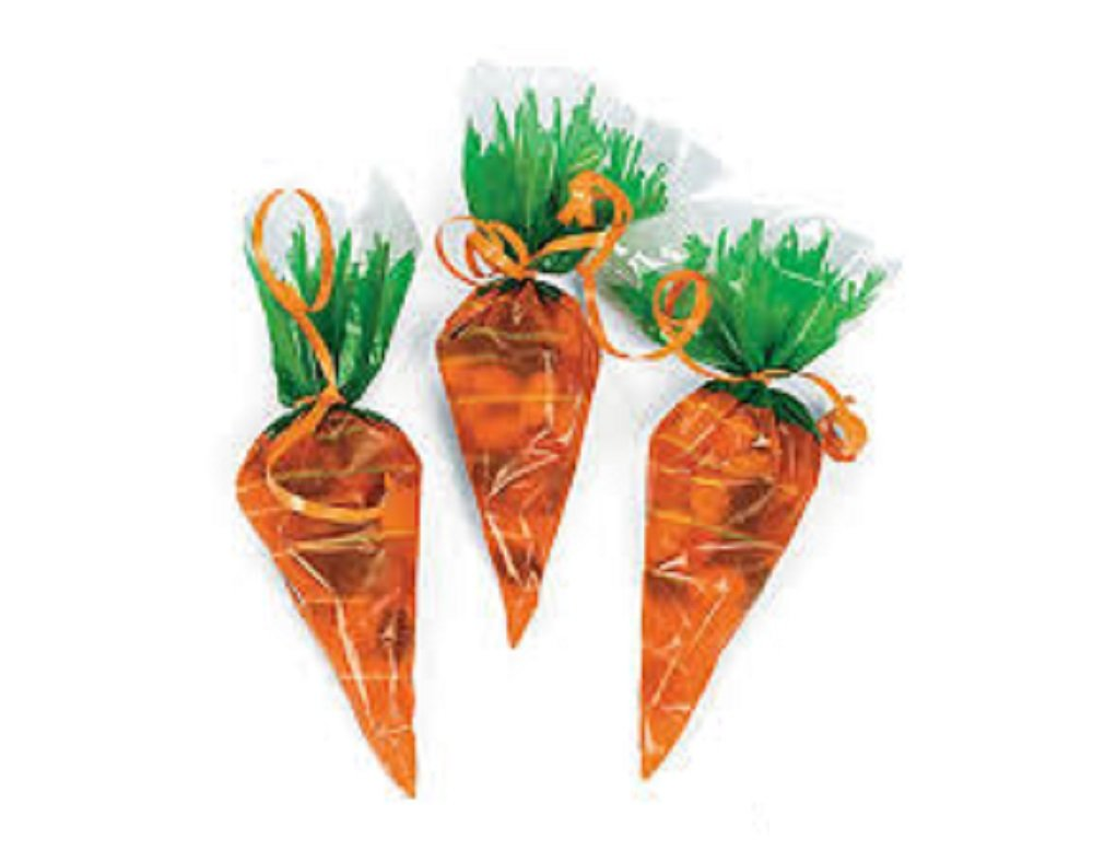12 carrot shaped easter sweet cones or party bags spring egg hunt 12 carrot shaped easter sweet cones or party bags spring egg hunt parties amazon kitchen home negle Image collections