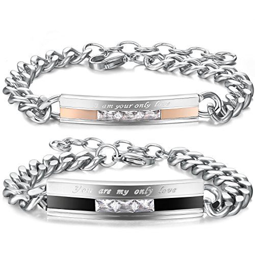 Jstyle Stainless Bracelets Couples Adjustable