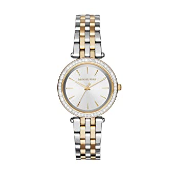 58992856f215 Amazon.com  Michael Kors Women s Mini Darci Two-Tone Watch MK3405 ...