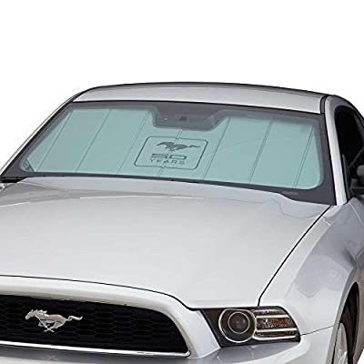 Covercraft UVS100 Custom Sunscreen with Mustang 50 Years Logo Silver UFM11372SV: Automotive