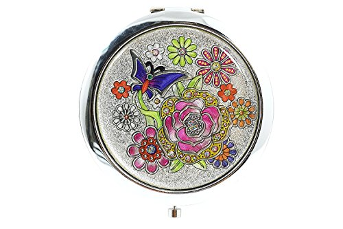 Lovely Butterfly Butterfly Stained Glass Design Compact Mirror (D) -