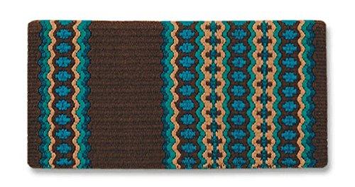 Mayatex Canyon Lands Wool Saddle Blanket (CHEST/SHTURQ/OCENBLU/TEAL/IND TAN)